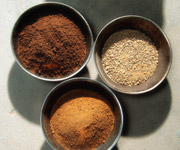 Samples in containers
